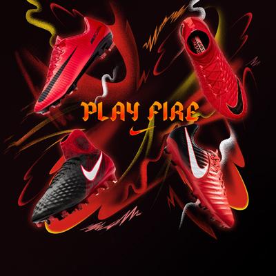 Botas y zapatillas Nike Play Fire niño
