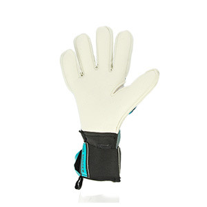HO Soccer Phenomenon Pro 2 Negative - Guantes de portero profesionales HO Soccer corte Negative - grises y verdes turquesa - completa palma mano izquierda