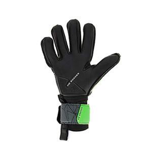 HO Soccer One Negative - Guantes de portero HO Soccer corte Negative - negros y verdes - completa palma mano izquierda