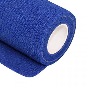 Uhlsport Tube It Tape 7,5 cm - Esparadrapo sujeta espinilleras Uhlsport (7,5 cm x 4 m) - azul - frontal