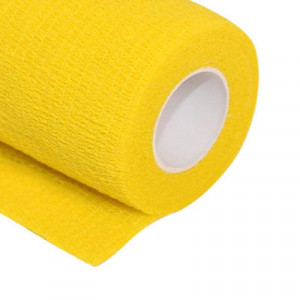 Uhlsport Tube It Tape 7,5 cm - Esparadrapo sujeta espinilleras Uhlsport 7,5 cm - amarillo - frontal