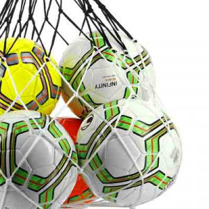 Red de 12 balones Uhlsport - Balonero de cuerdas Uhlsport para doce balones de fútbol - frontal
