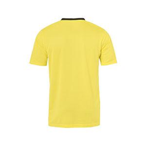 Camiseta portero Uhlsport Goal niño - Camiseta de manga corta de portero infantil Uhlsport - amarillo - trasera
