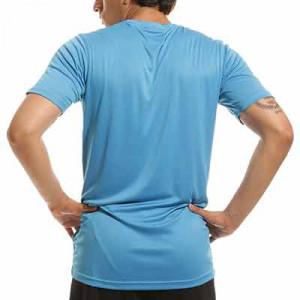 Camiseta portero Uhlsport Stream - Camiseta de manga corta de portero Uhlsport - azul celeste - trasera