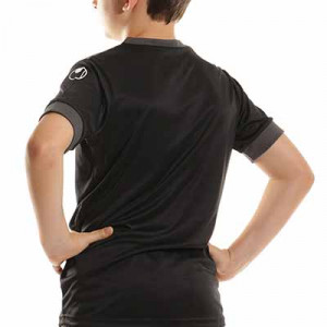 Camiseta Uhlsport Offense 23 niño - Camiseta de manga corta de portero infantil Uhlsport - negra - completa trasera