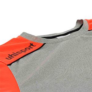 Camiseta Uhlsport Tower GK - Camiseta de manga larga de portero Uhlsport - gris y roja - cuello