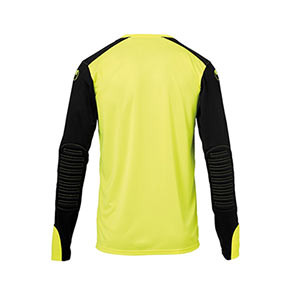 Camiseta Uhlsport niño Tower GK - Camiseta infantil de manga larga de portero Uhlsport - amarilla flúor y negra - trasera