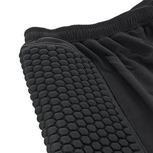 Pantalónes portero niño Uhlsport Essential Standard - Pantalones largos infantiles de portero acolchados Uhlsport - Negro - detalle