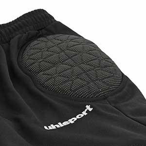 Pantalónes portero niño Uhlsport Anatomic Kevlar - Pantalones largos infantiles de portero acolchados Uhlsport - Negro - detalle