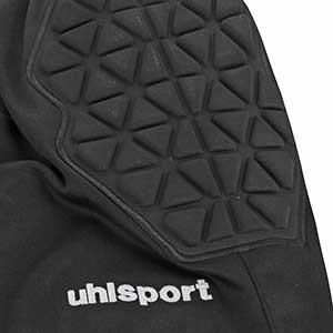 Pantalones portero niño Uhlsport Essential - Pantalón largo infantil de portero acolchado Uhlsport - Negro - detalle