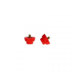 Tacos plástico botas Uhlsport cilíndricos - Tacos recambio nylon universales para botas SG (4 uds x 14 mm y 8 uds x 11 mm) - detalle
