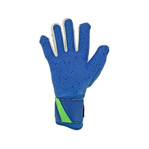 Uhlsport Aquagrip HN - Guantes de portero profesionales para agua Uhlsport corte Half Negative - azules y verdes - trasera