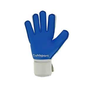 Uhlsport Aquasoft - Guantes de portero para agua Uhlsport corte clásico - blancos y azules - trasera