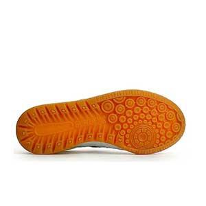 Munich Gresca Kid 604 velcro - Zapatillas de fútbol sala con velcro para niño Munich suela lisa - Blanco / Azul - suela