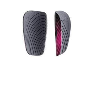 SAK Athena Thin - Espinilleras de fútbol finas para mujer SAK con mallas de sujeción - negras y rosas - trasera lateral