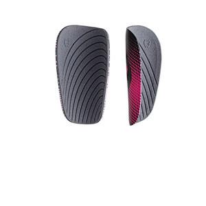 SAK Athena Regular - Espinilleras de fútbol para mujer SAK con mallas de sujeción - negras y rosas - trasera