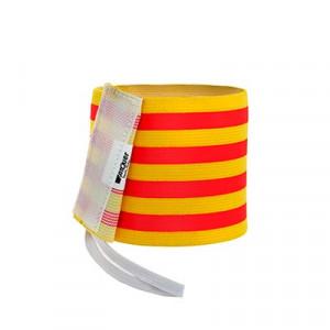 Brazalete de capitán infantil 30 cm - Brazalete de capitán niño Cataluña - amarillo/rojo - cara