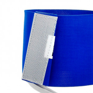 Brazalete de capitán 36 cm - Brazalete de capitán Blaugrana - azul - trasera detalle cierre