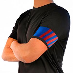 Brazalete de capitán 36 cm - Brazalete de capitán Blaugrana | azul/rojo - frontal modelo