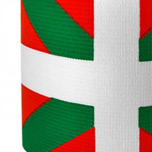 Brazalete jr de capitán 30 cm - Brazalete de capitán País Vaco para niño - Rojo / Verde - detalle