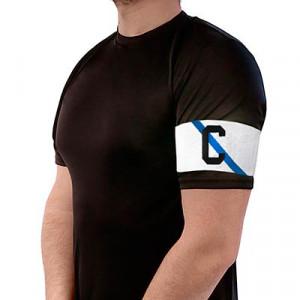Brazalete de Capitán 36 cm - Brazalete de capitán Galicia adulto - Blanco / Azul - colocacion