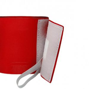 Brazalete de capitán 36 cm - Brazalete de capitán Comunidad de Madrid - rojo - detalle cierre