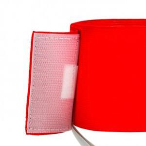 Brazalete de capitán 36 cm - Brazalete de capitán  - rojo - trasera detalle cierre