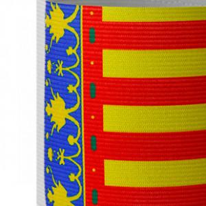 Brazalete jr de capitán 30 cm - Brazalete de capitán Comunidad Valenciana para niño - Rojo / Amarillo - detalle