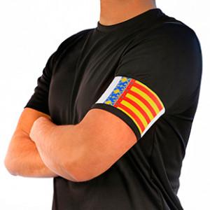 Brazalete de Capitán 36 cm - Brazalete de capitán Comunidad Valenciana de adulto - Rojo / Amarillo - frontal modelo