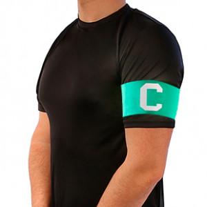 Brazalete de Capitán 36 cm - Brazalete de capitán adulto - Verde - frontal