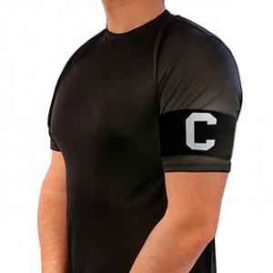Brazalete de capitán 36 cm - Brazalete de capitán  - negro - frontal
