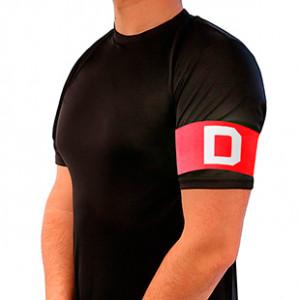 Brazalete de capitán infantil 30 cm - Brazalete de capitán niño - rojo/rojo - frontal modelo