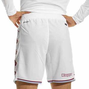 Pantalón Kappa Aston Villa 2021 2022 Ryder - Pantalón corto primera equipación Kappa Aston Villa 2021 2022 - blanco