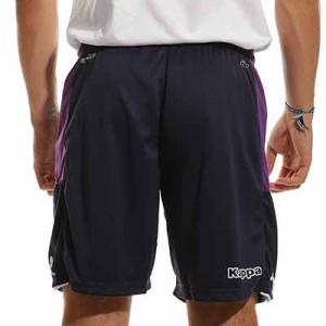 Short Kappa Fiorentina entreno Pro 5 bolsillo cremallera - Pantalón corto de entrenamiento para entrenadores Kappa de la AC Fiorentina - lila
