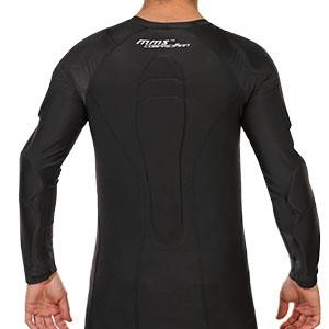 Camiseta interior portero Reusch CS 3/4 Padded Pro - Camiseta compresiva manga larga de portero Reusch - negra - trasera