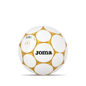 Balón Joma Hybrid Sala Game 62 cm - Balón de fútbol sala Joma talla 62 cm - blanco, dorado
