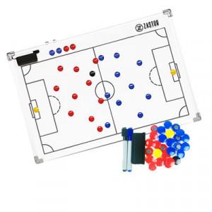Pizarra magnética fútbol Zastor 60x90 cm - Pizarra magnética para entrenador de fútbol Zastor - blanca - frontal