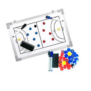 Pizarra magnética fútbol sala Zastor 30x45 cm - Pizarra magnética para entrenador de fútbol sala Zastor - blanca - frontal