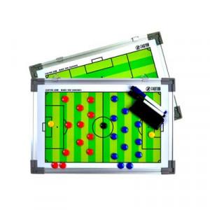 Pizarra táctica magnética de doble cara Zastor - Pizarra táctica de fútbol de doble cara y magnética 30 x 45 cm - blanca - frontal