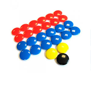 Fichas magnéticas Zastor set recambio 27 fichas 20 mm - Fichas magnéticas fútbol Zastor de 20mm de diámetro (27 unidades) - azules - frontal