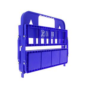 Botellero plegable Zastor - Portabotellas plegable Zastor para 8 botellas - azul - plegado