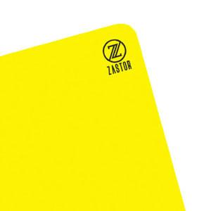 Tarjeta árbitro Zastor - Tarjeta de árbitro de fútbol (12 cm x 9 cm) - amarilla - frontal