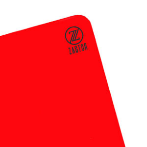 Tarjeta árbitro Zastor - Tarjeta de árbitro de fútbol (12 cm x 9 cm) - roja - frontal