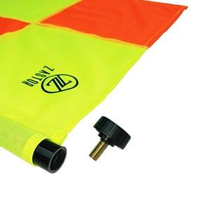 Set banderines árbitro fútbol Zastor PRO-XC con funda - Kit de banderines para árbitro de fútbol Zastor - amarillos y naranjas - detalle