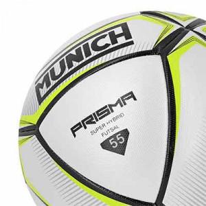 Balón Munich Prisma Indoor talla 55 cm - Balón de fútbol sala Munich talla 55 cm - blanco y amarillo - detalle