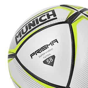 Balón Munich Prisma Indoor talla 58 cm - Balón de fútbol sala Munich talla 58 cm - blanco y amarillo - detalle