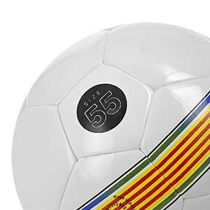Balón Munich Hera Indoor RFEF Talla futsal - Balón de fútbol sala Munich Federació Catalana de Futbol talla 55 cm - blanco y negro - talla