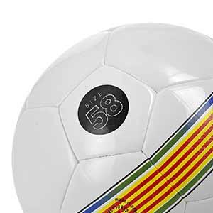 Balón Munich Hera Indoor RFEF Talla futsal - Balón de fútbol sala Munich Federació Catalana de Futbol talla 58 cm - blanco y negro - talla