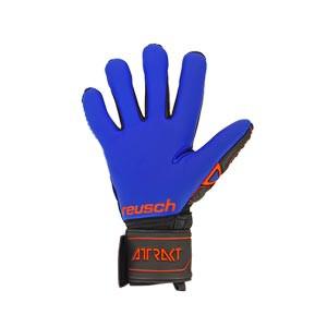 Reusch Attrakt G3 Evolution NC - Guantes de portero Reusch corte Negative Cut - negros y azules - trasera