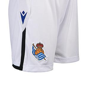 Short Macron Real Sociedad 2021 2022 niño - Pantalón corto primera equipación infantil Macron de la Real Sociedad 2021 2022 - blanco